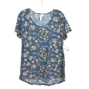 NWT LulaRoe classic T tee top t-shirt floral M